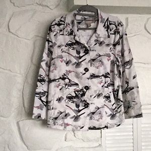 Chico's cotton print jacket